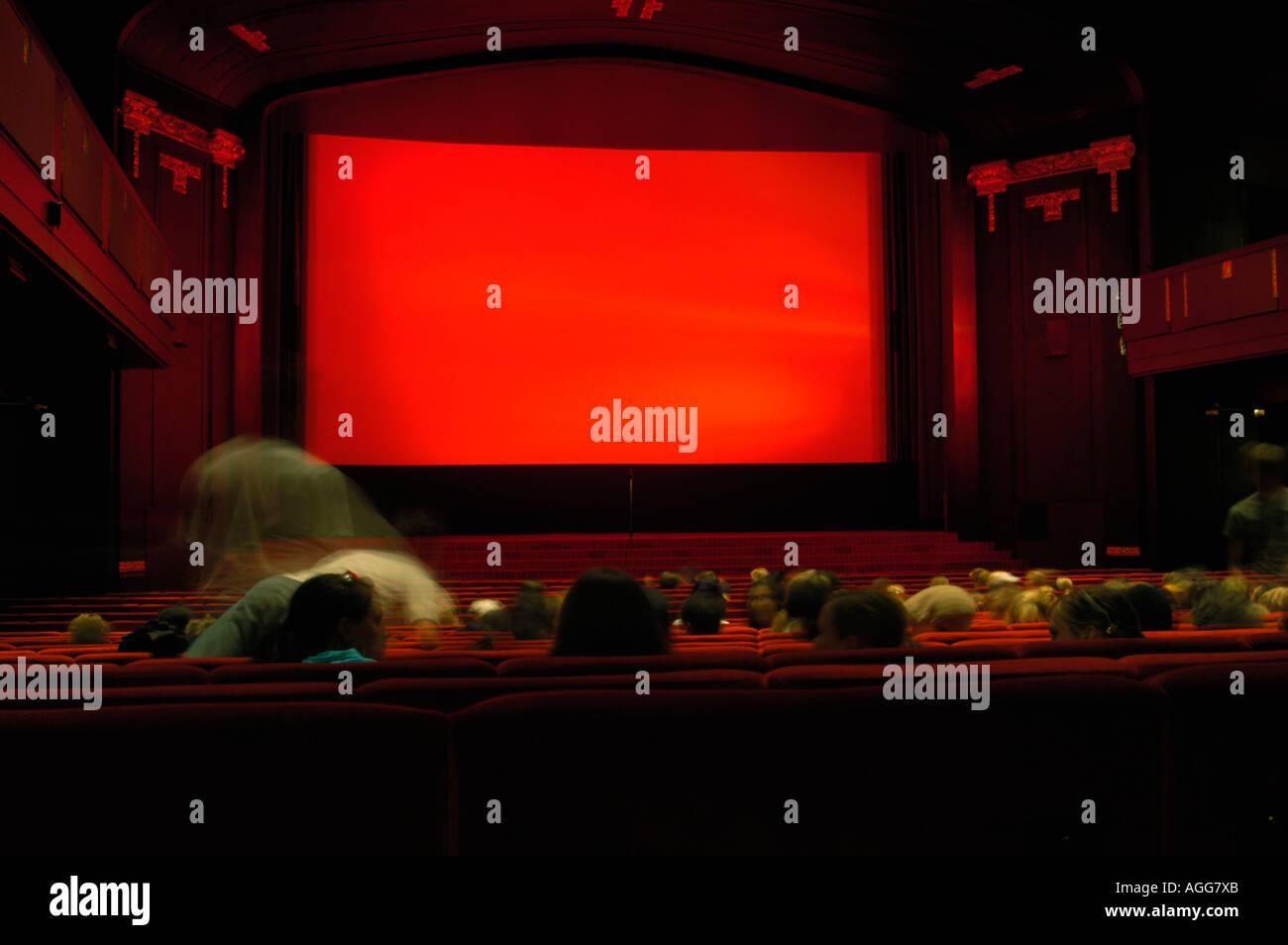 classic movie theatre, Stockholn, Sweden - Stock Image