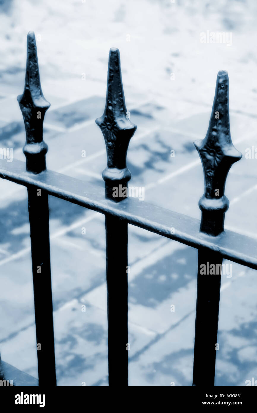 Iron railings - Stock Image