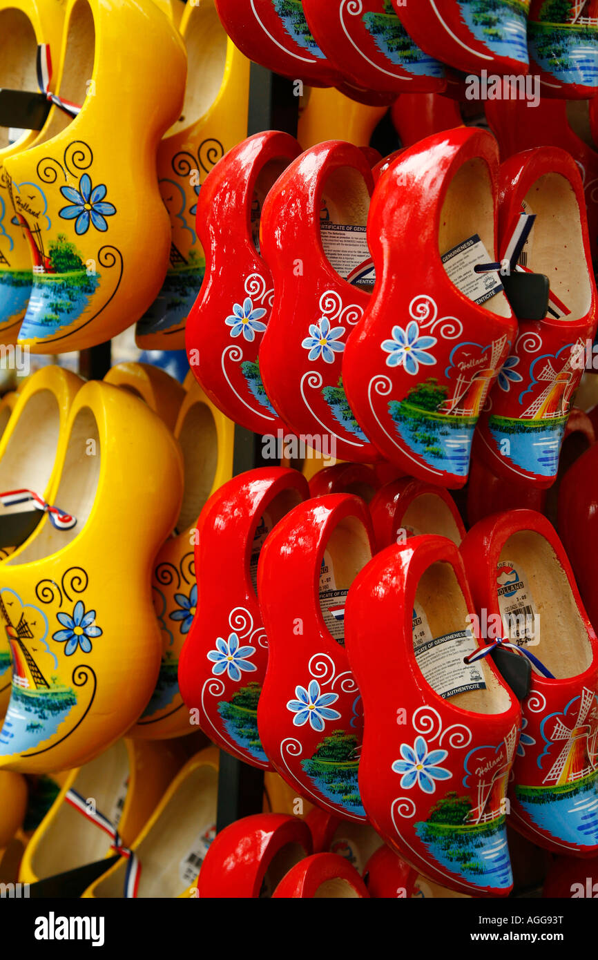 Traditional Wooden Shoes Amsterdam Holland Stock Photo 14202875 Alamy