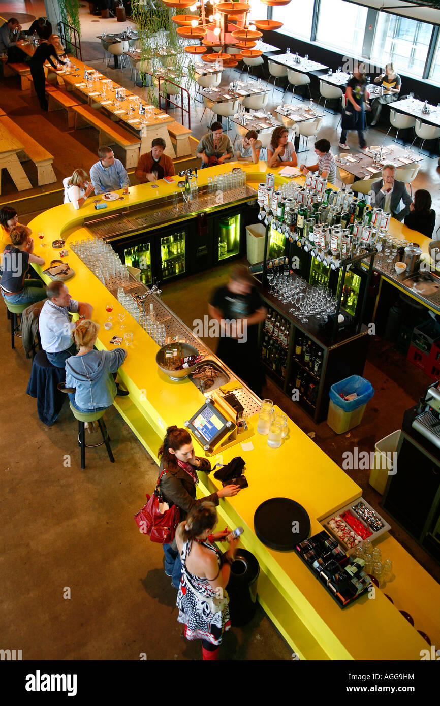 Eleven Restaurant Bar Club is considered to be one of Amsterdams hippest and trendiest sopts Holland - Stock Image