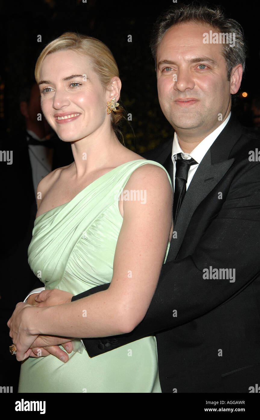 Actress Kate Winslet and Sam M...