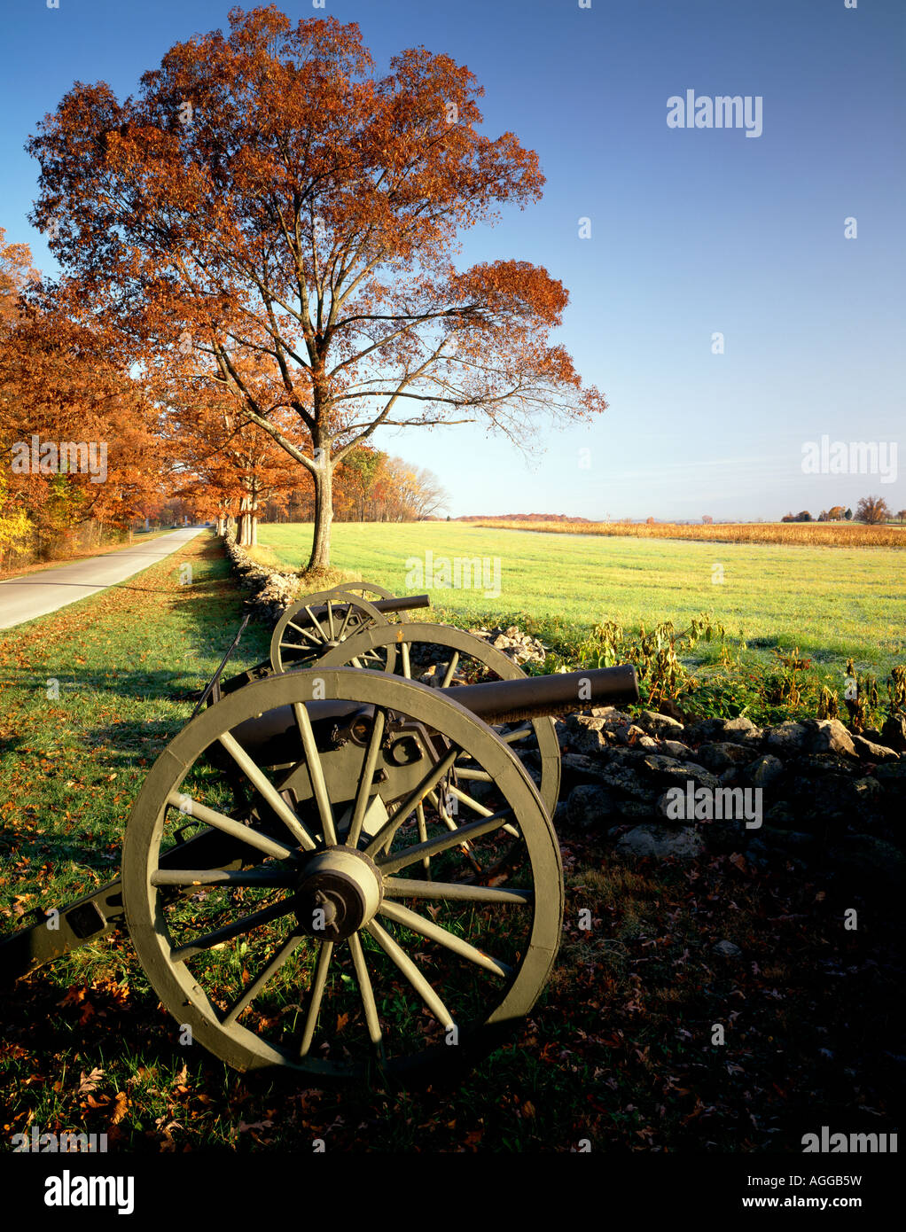 View Northeast From Warfield Ridge In Gettysburg National Military Park, Adams County, Pennsylvania, Usa, - Stock Image