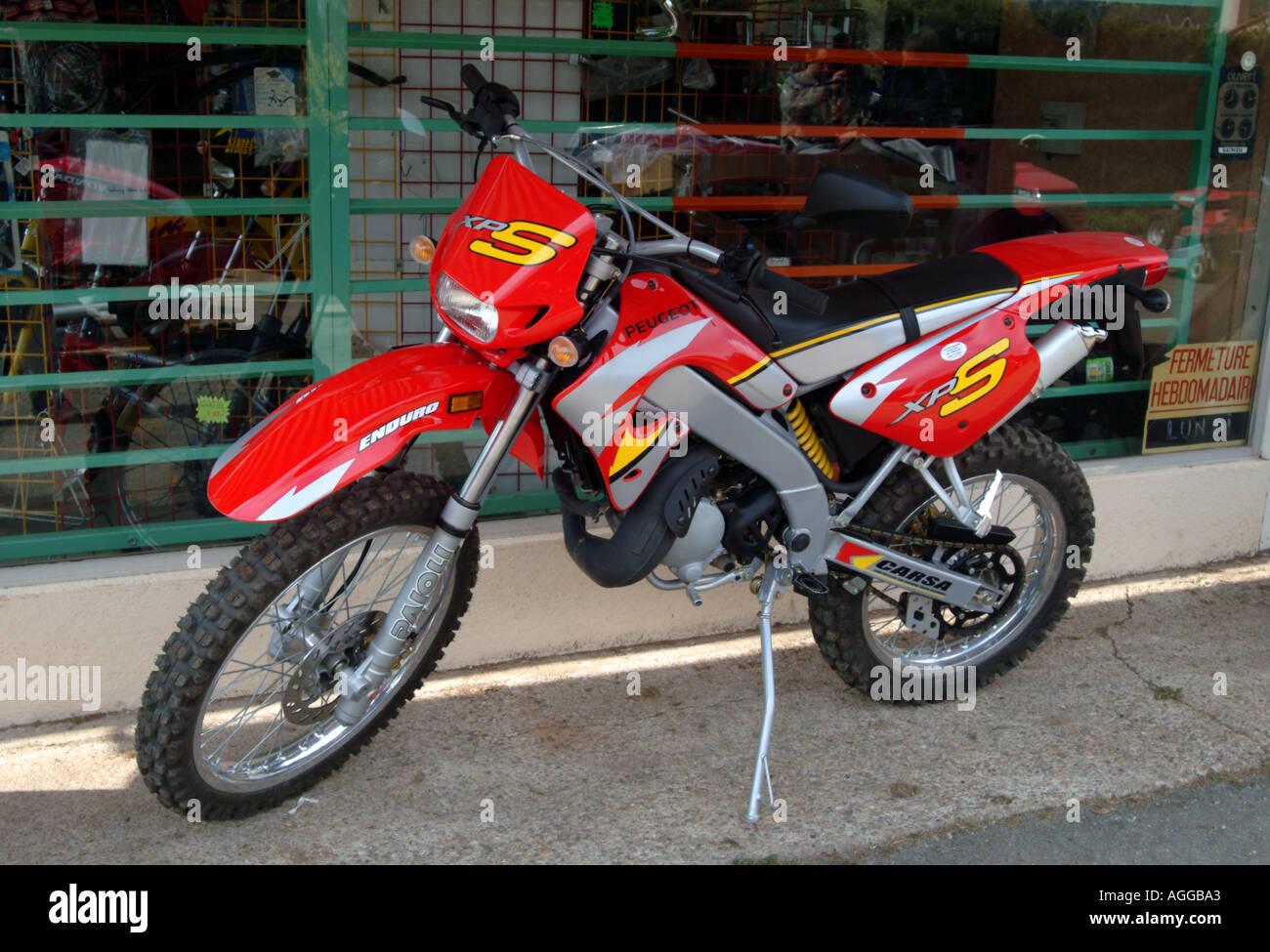 Brand new motorbike in France - Stock Image