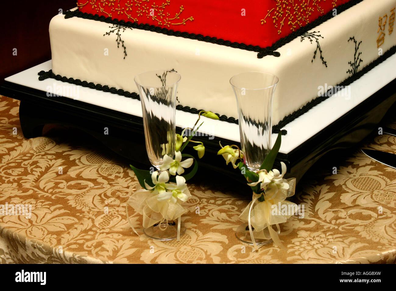 Chinese wedding cake and details Stock Photo: 14203824 - Alamy
