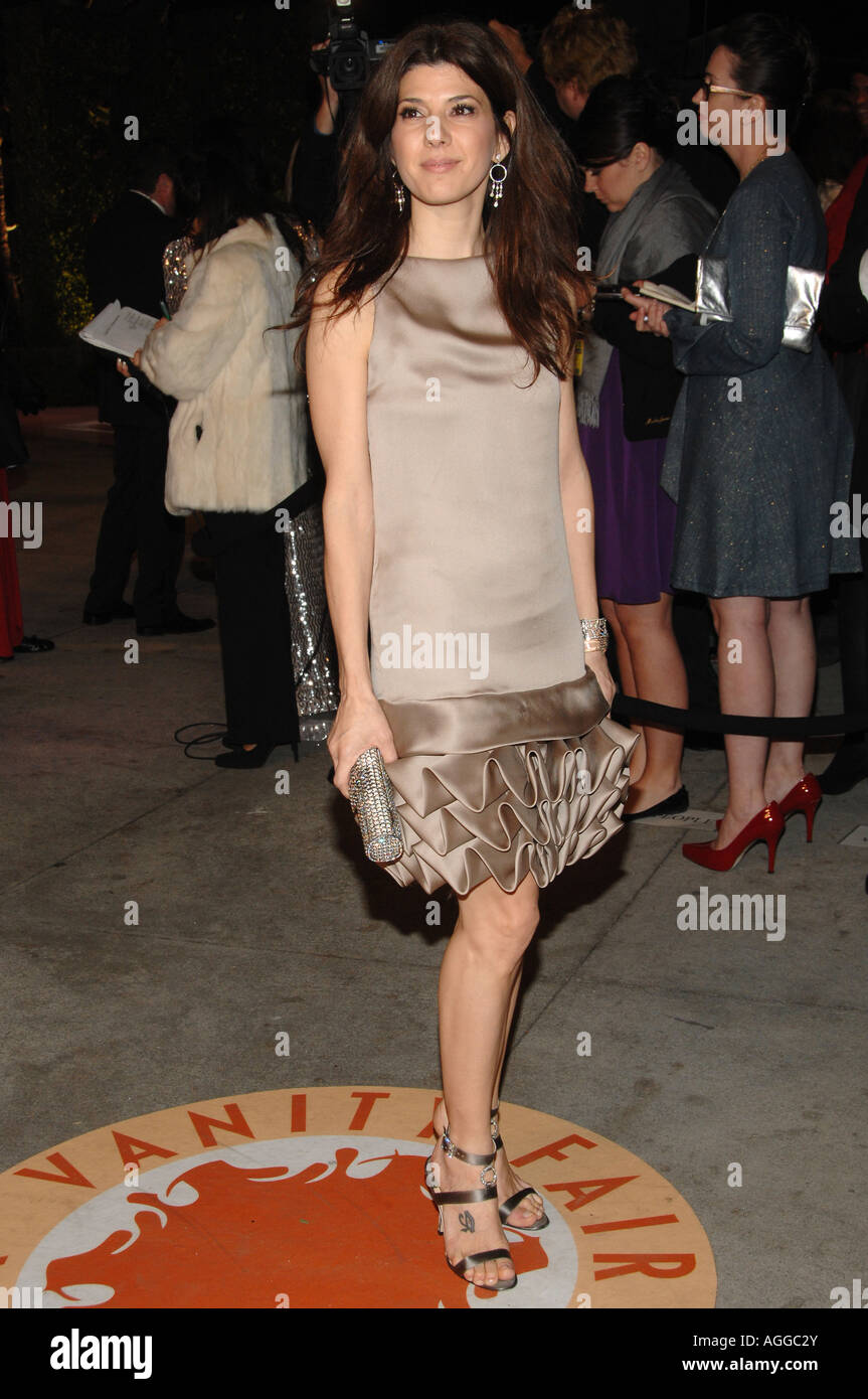 Actress Marisa Tomei at the 2007 Vanity Fair Oscar Party held on February 25 2007 at Morton's Steakhouse in Los Stock Photo