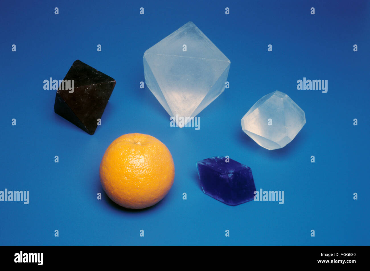 crystals as big as oranges Stock Photo