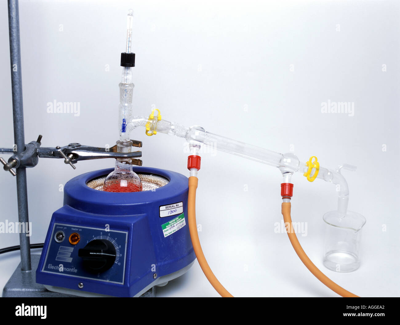 distillation of red ink Stock Photo