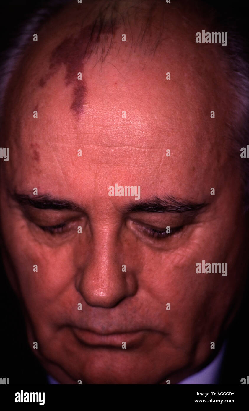 Portrait of the last President of the Soviet Union, Mikhail Gorbachev - Stock Image