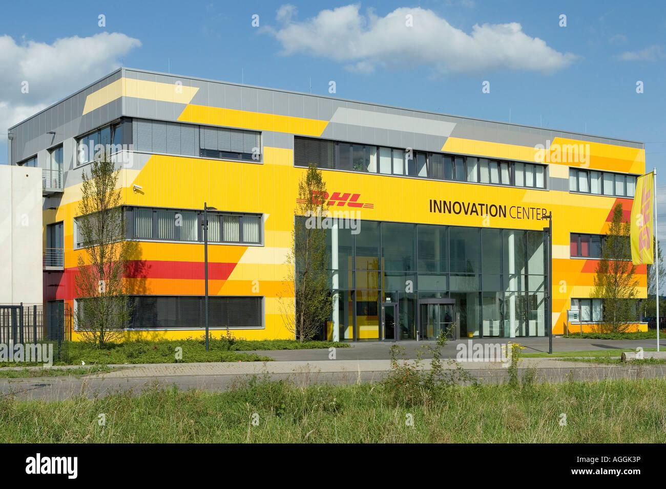 the dhl innovation center of the deutsche post world net in troisdorf stock photo 14206233 alamy. Black Bedroom Furniture Sets. Home Design Ideas