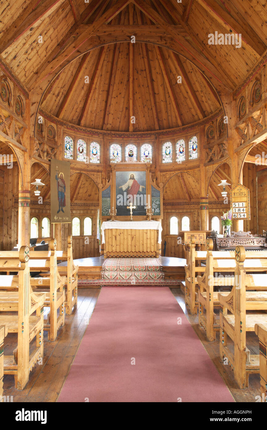 English Church or the Church of St Olav Balestrand Sogn og Fjordane Norway - Stock Image