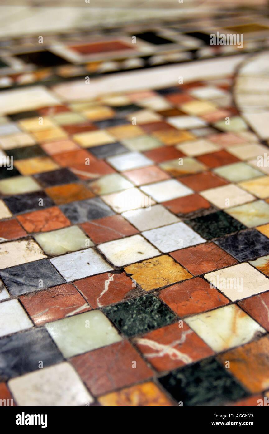 mosaic on floor, Rome, Italy - Stock Image