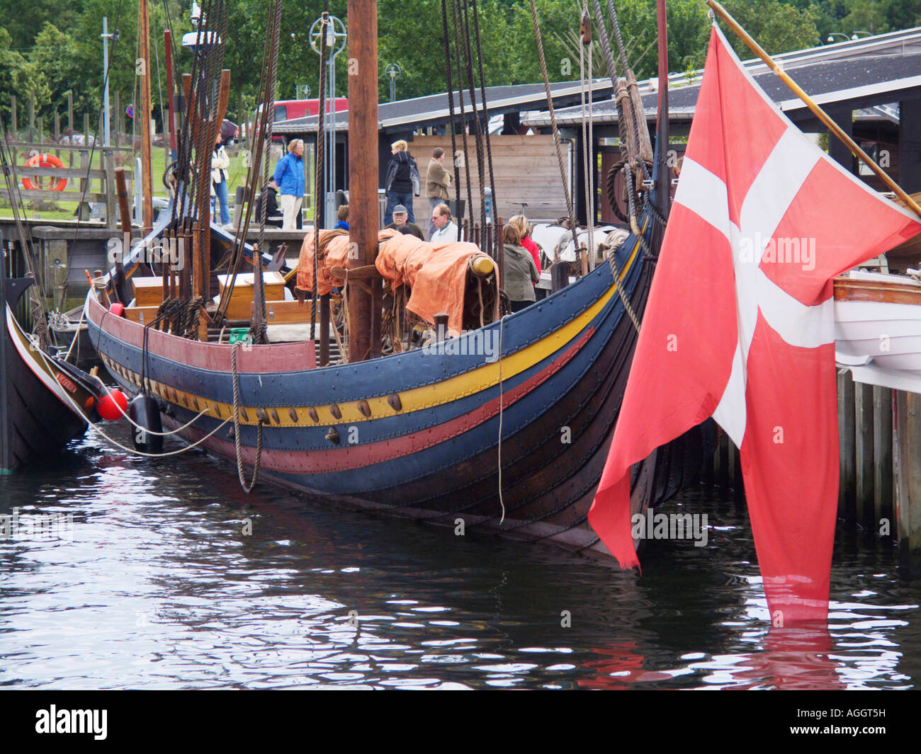 The Glendalough Sea Stallion Viking Ship at the Viking Ship Museum Roskilde North Zealand Denmark - Stock Image