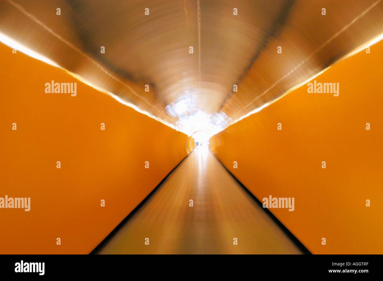 pedestrian underground tunnel, Stockholm, Sweden - Stock Image