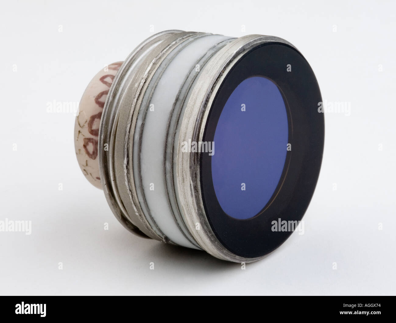 An image intensifier tube, 3rd generation design, the main component for night vision scopes weapon sights and goggles - Stock Image