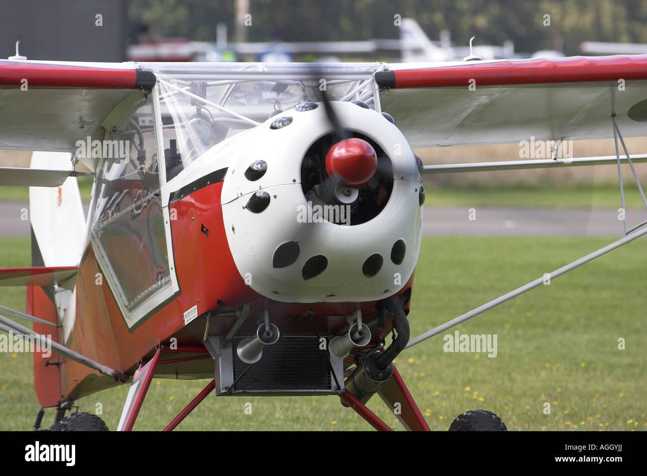 Denney Kitfox G-BTIR microlight aircraft taxiing at Sherburn