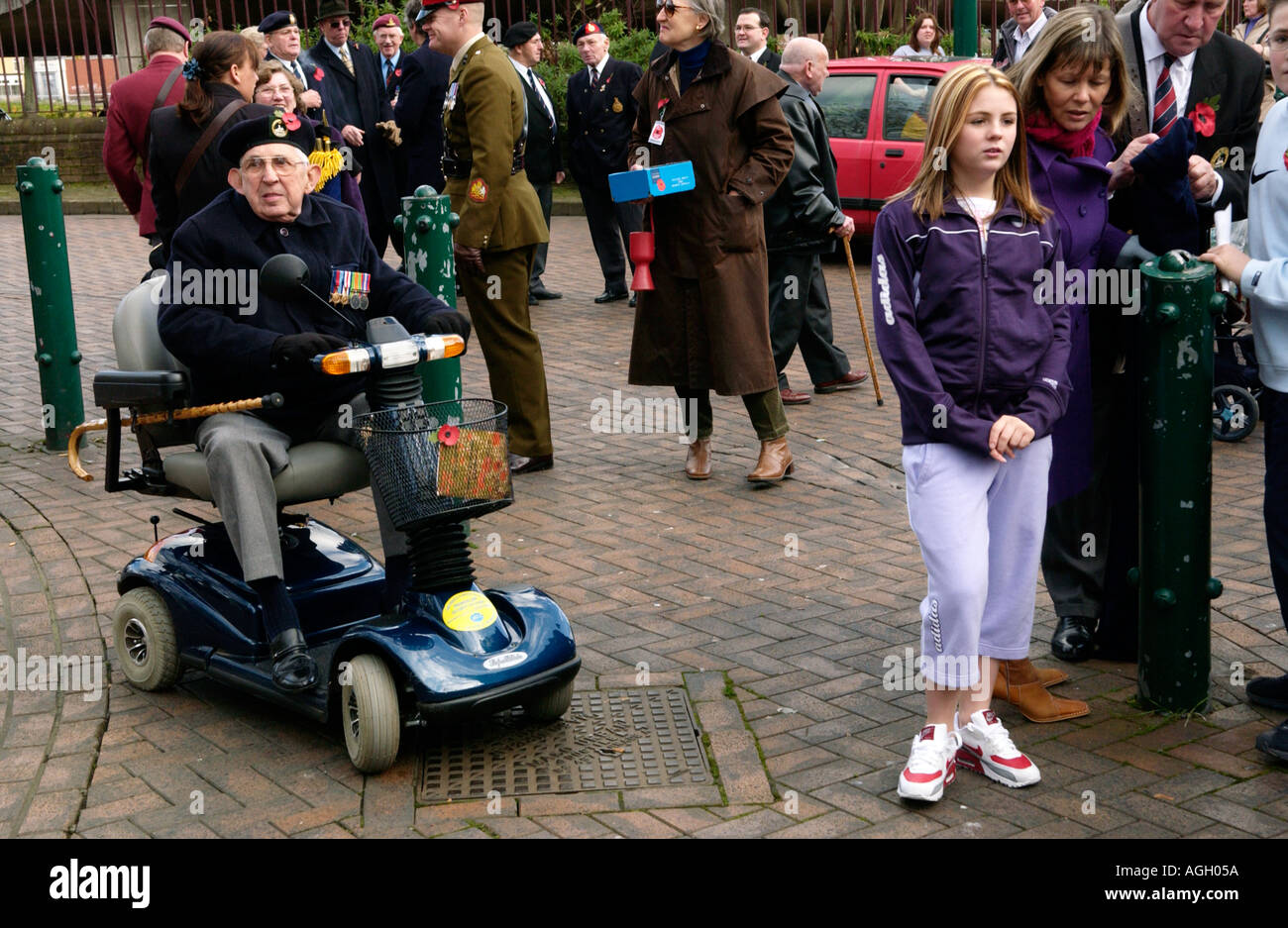 Remembrance Day in Newport South Wales UK - Stock Image