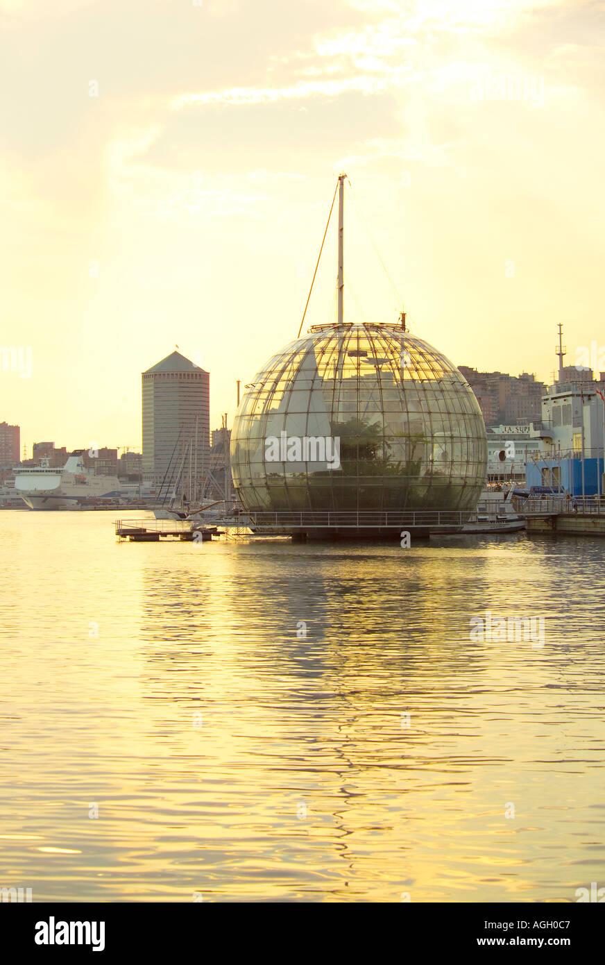 Sphere (by Renzo Piano), Genoa (Genova) , Italy - Stock Image