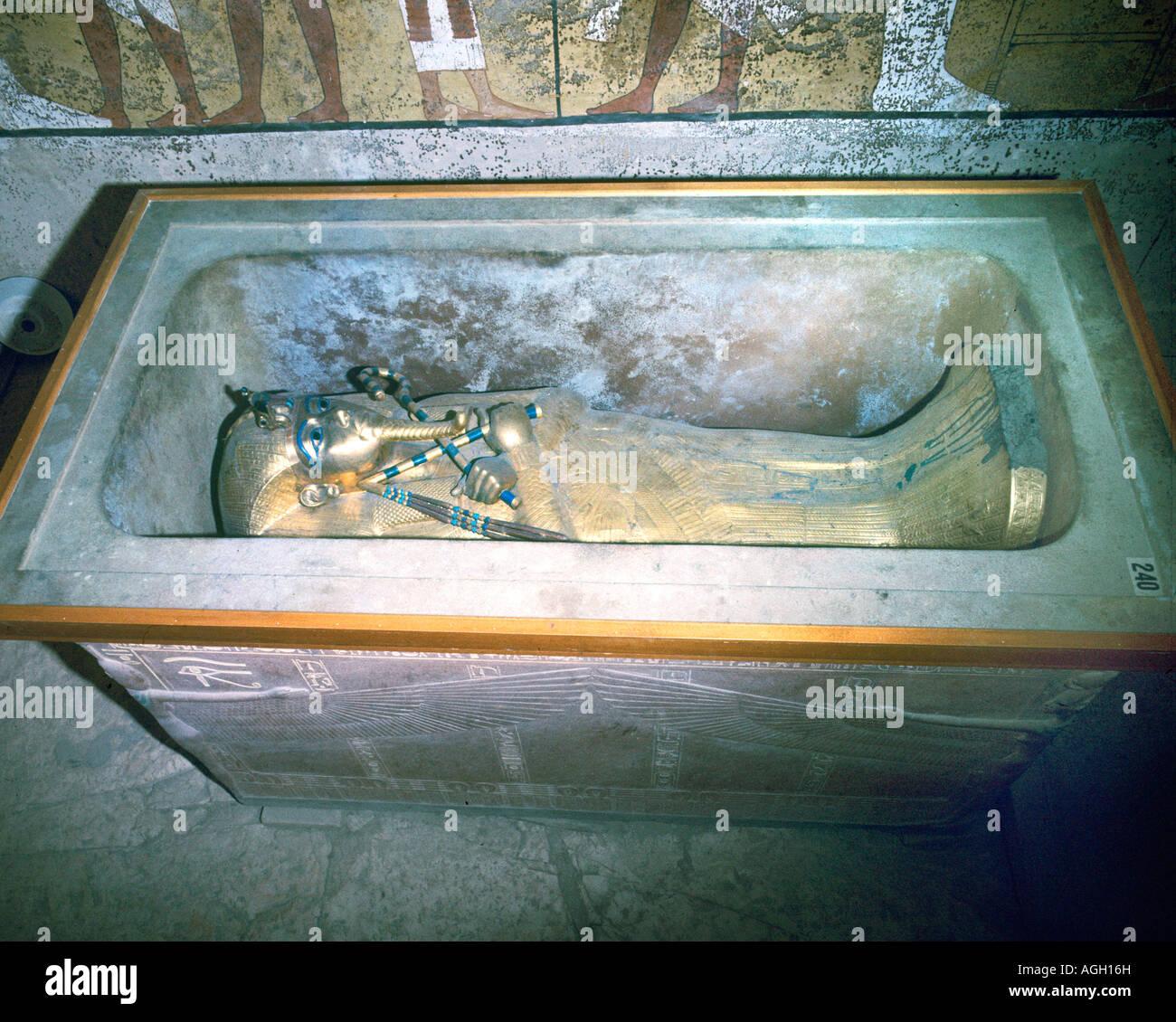 Tutankhamun sarcophagus - Stock Image