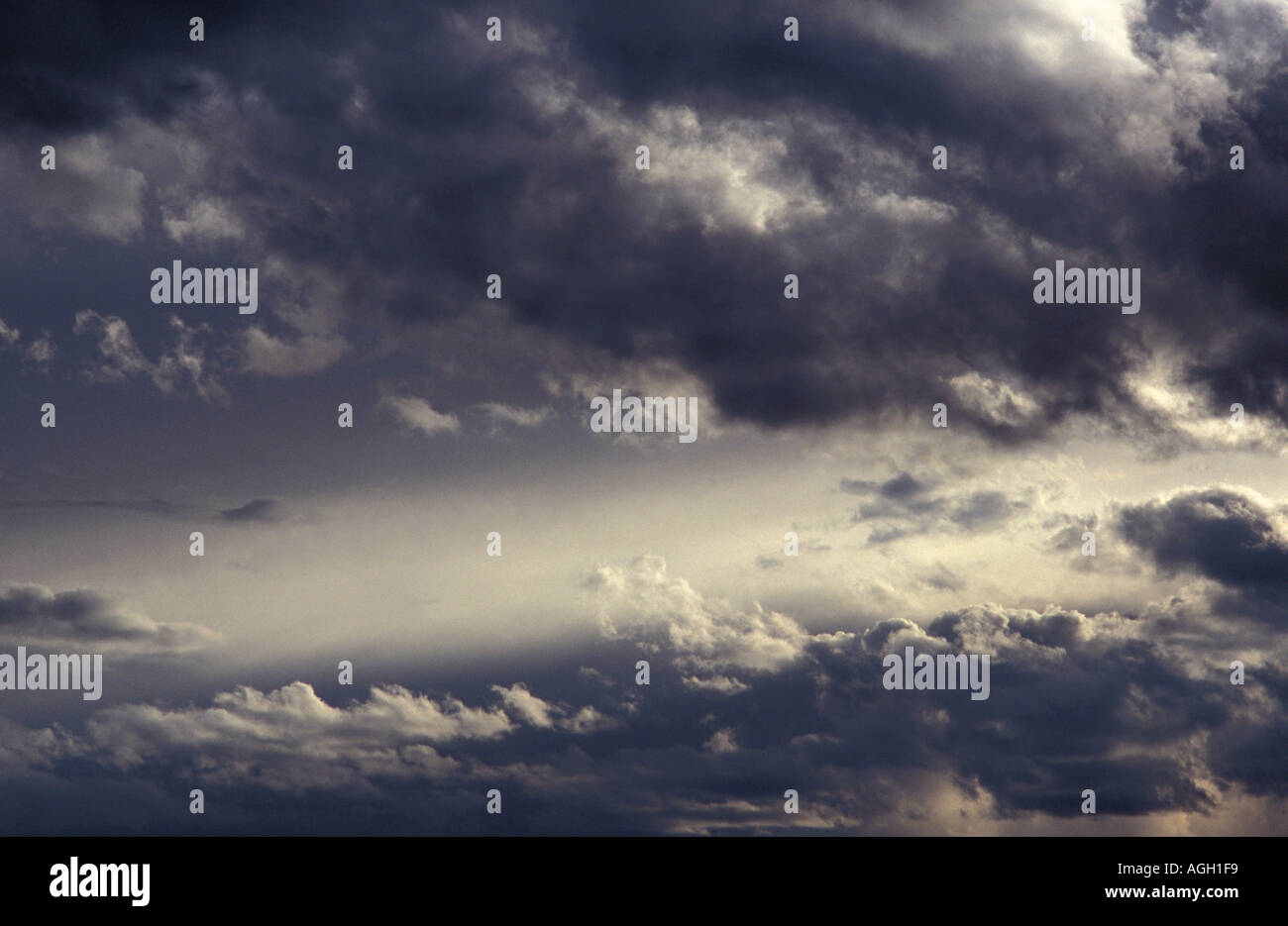 Spectacular cloud formations from the Bolivian altiplano and the Salar de Uyuni Bolivia South America - Stock Image