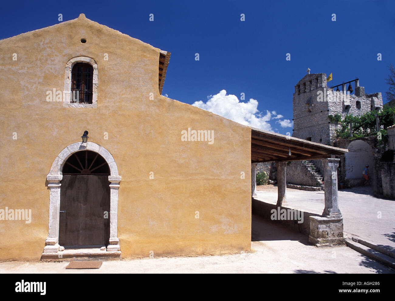Panagia Anafonitria 15th century monastery St Dionysiossaid to have taken monastic vows here Zakynthos Ionian Islands Greece - Stock Image