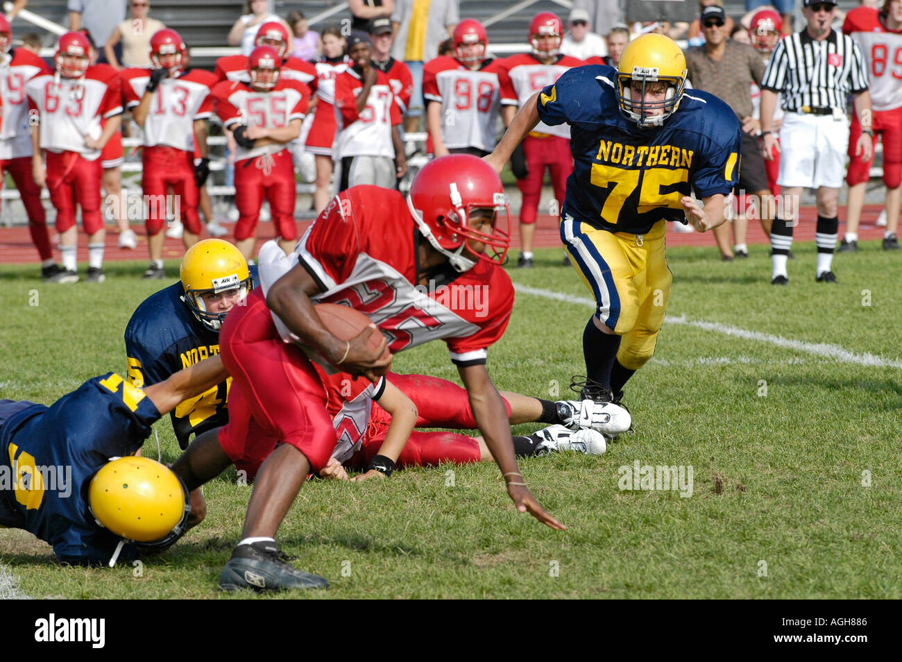 High School Football action Port Huron Michigan - Stock Image