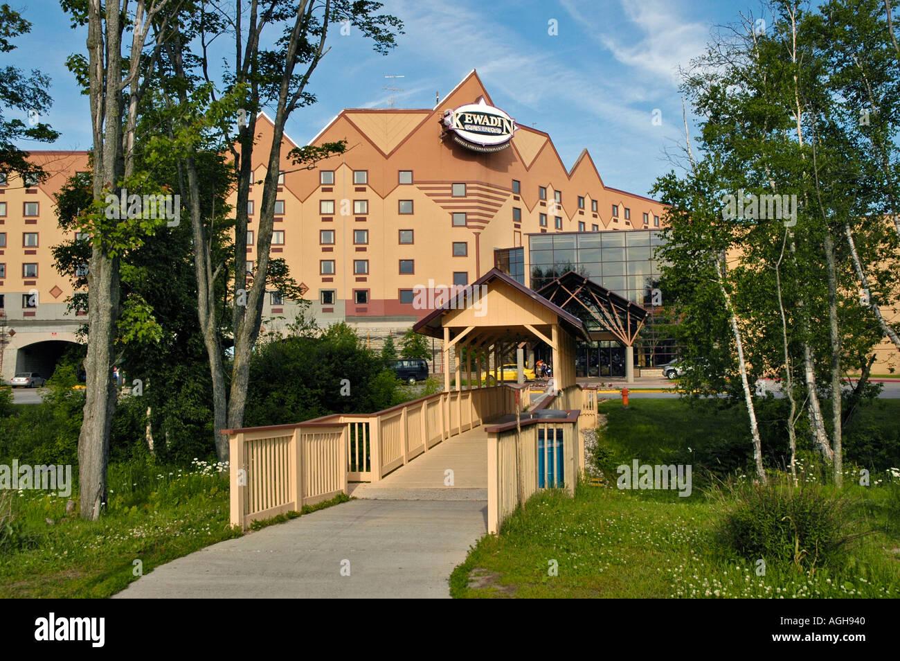 Kewadin Indian Casino at Sault Ste Marie Michigan - Stock Image