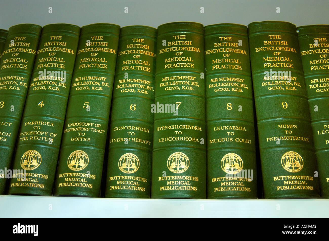 medical / medicine dictionary or encyclopedia Stock Photo