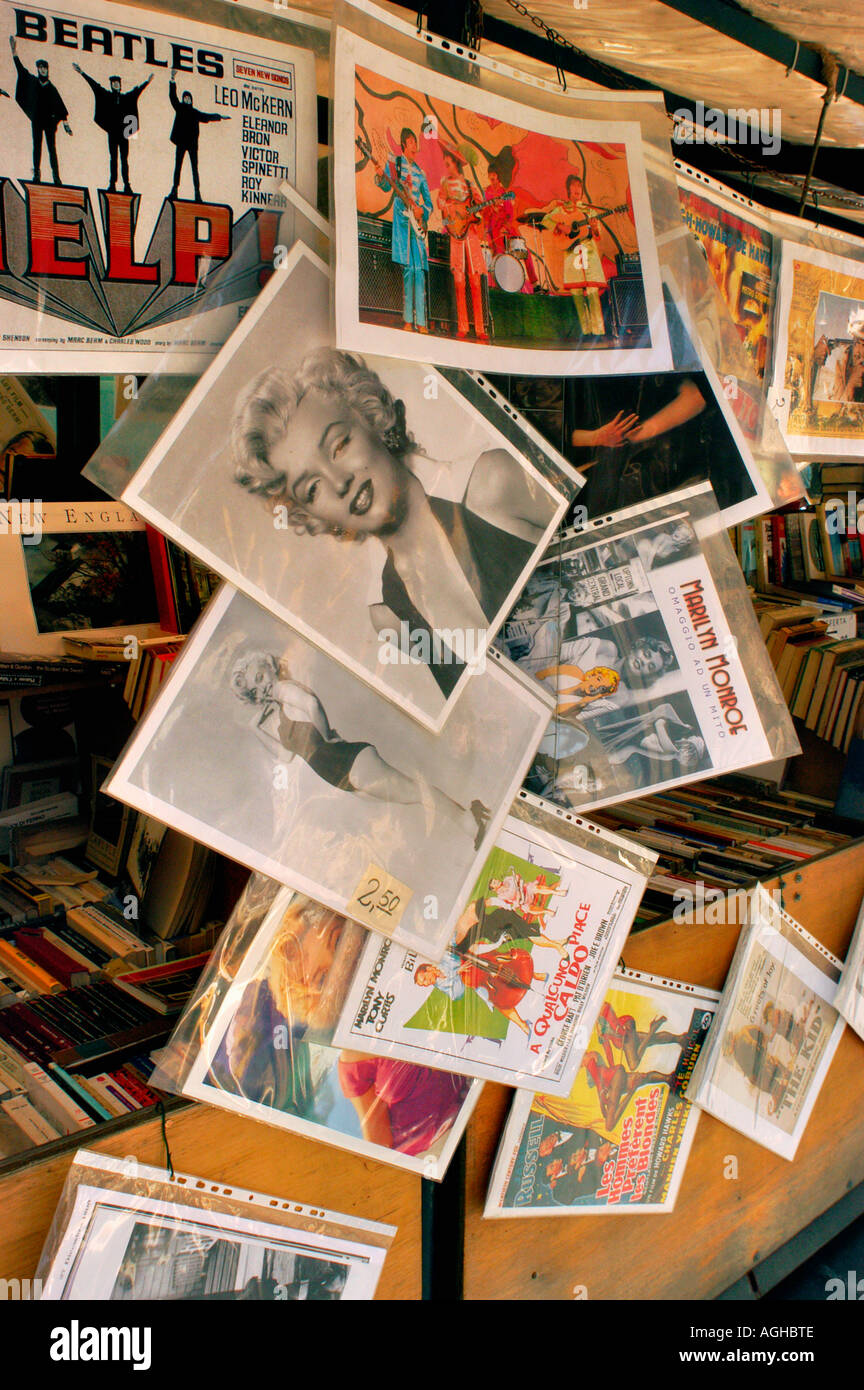 posters for sale, Rome, Italy - Stock Image