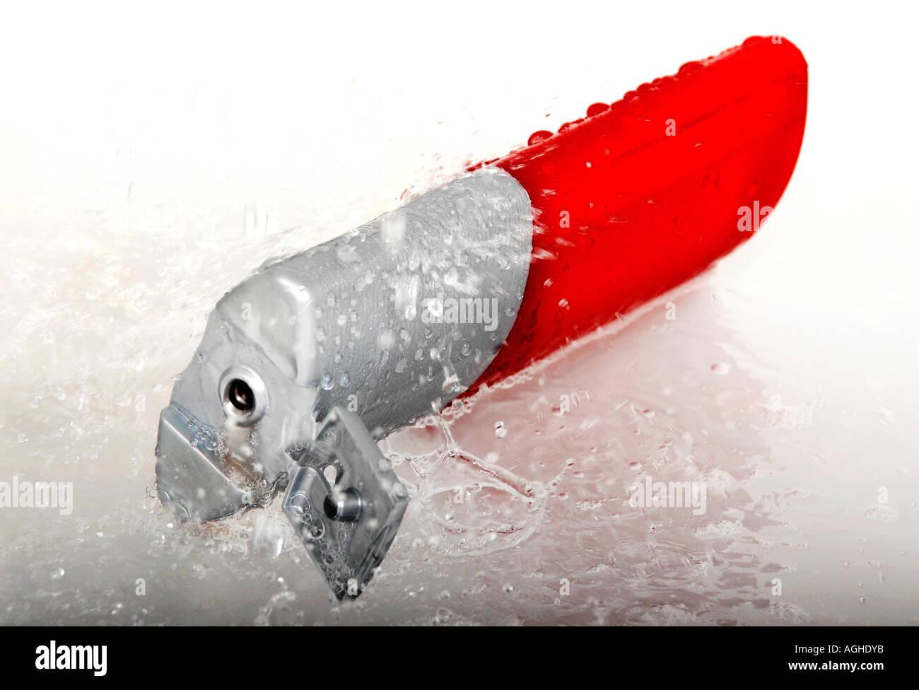 Shampoo bottle close up Stock Photo