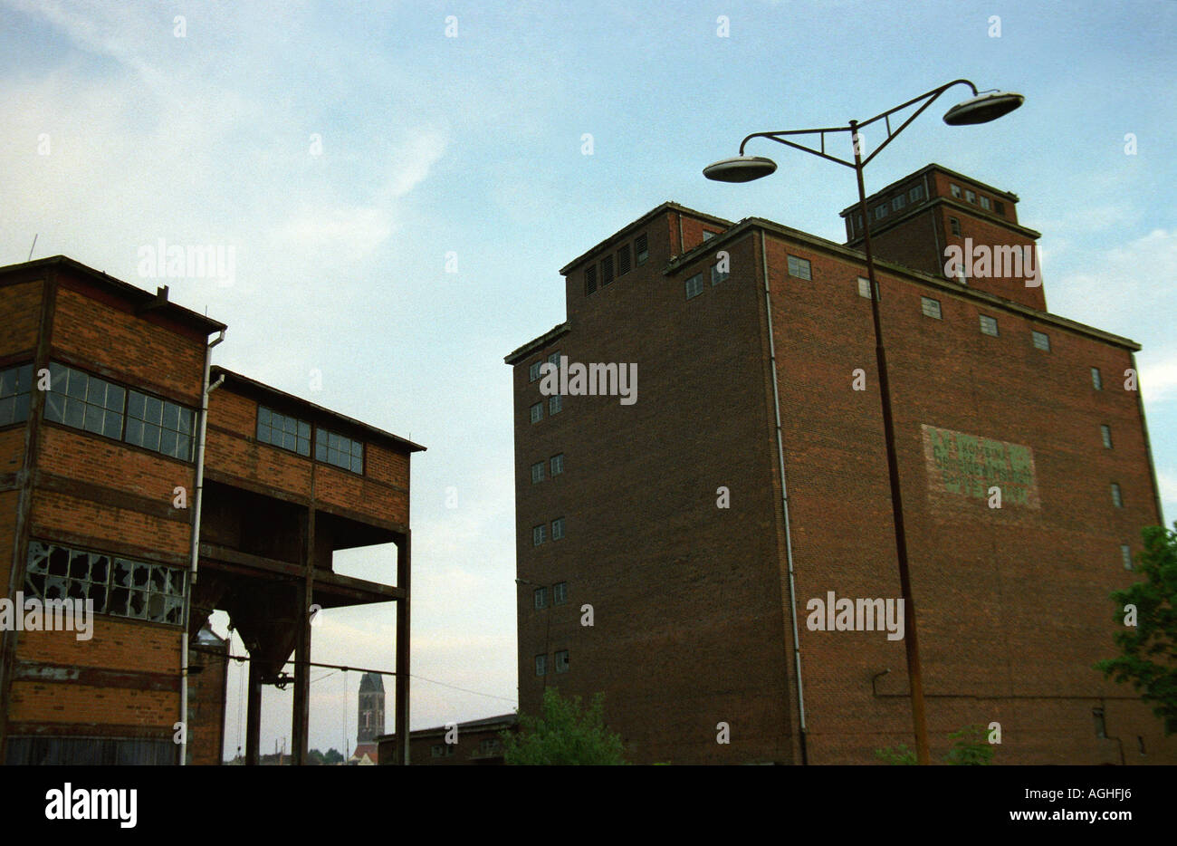 Exterior of building low angle view Wismar Germany - Stock Image