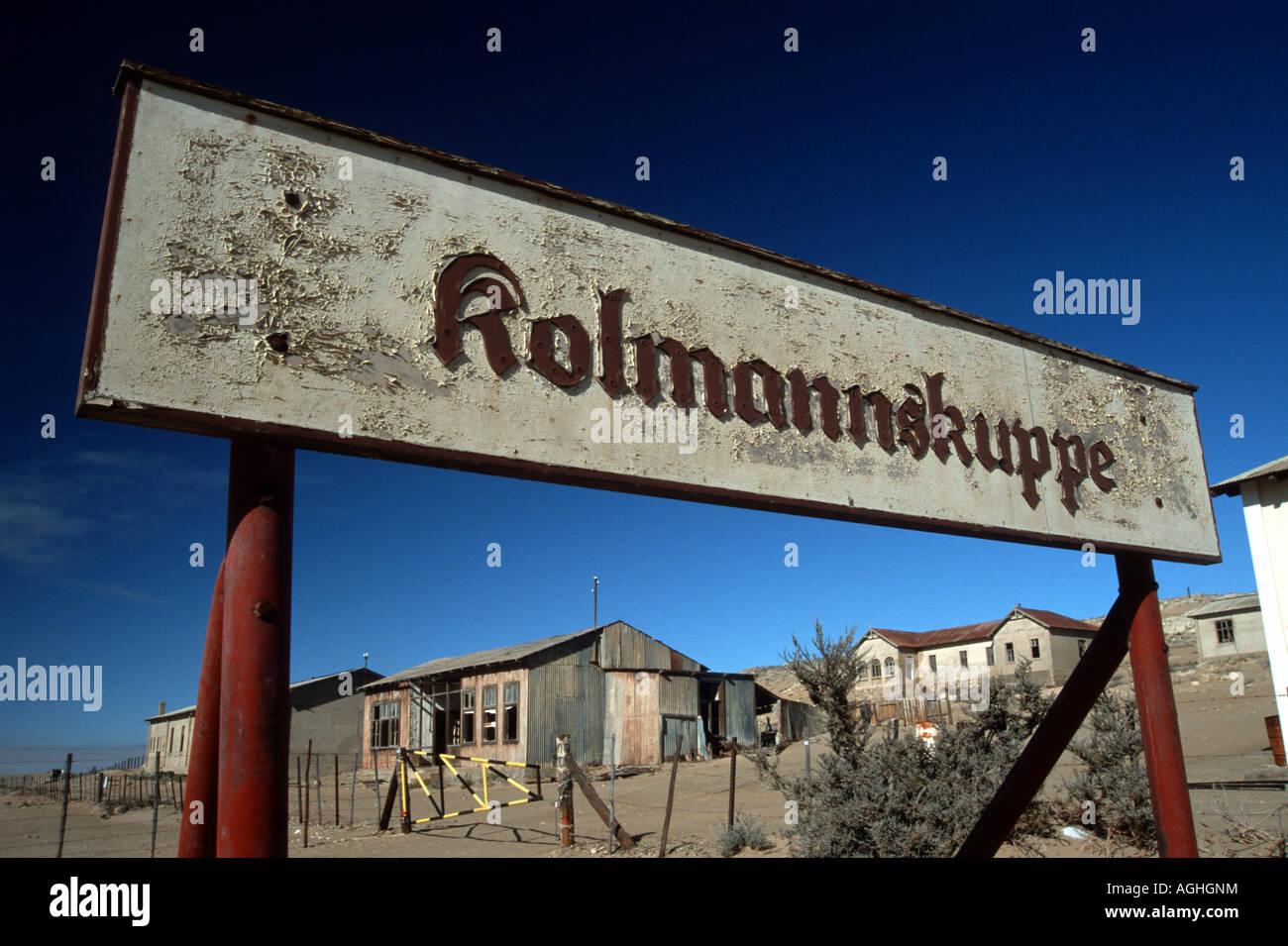 Kolmannskuppe, old town of diamond searchers, Namibia, Luederitz - Stock Image