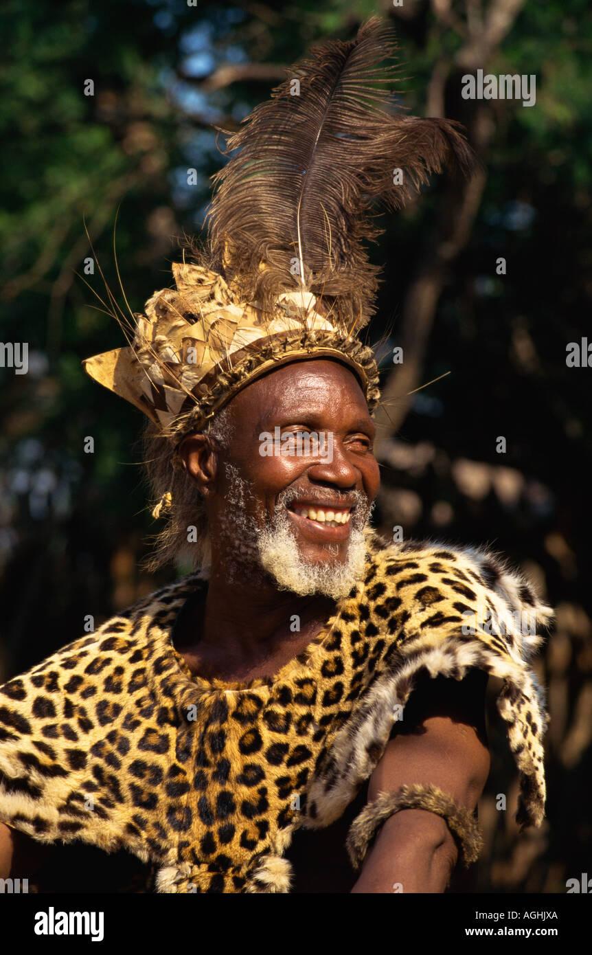 South Africa Simunye Zulu Chief Stock Photo