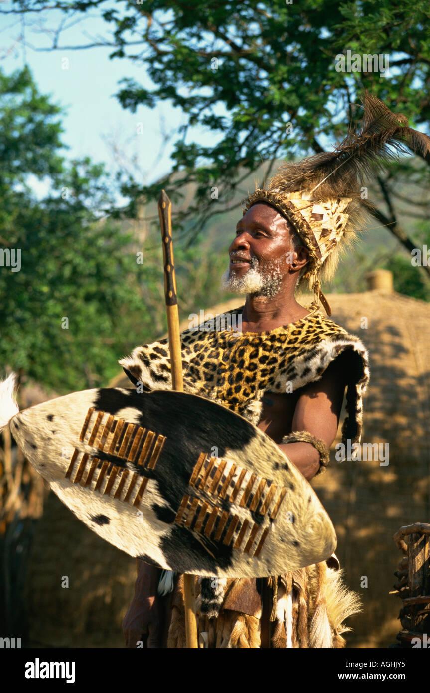 South Africa Simunye Zulu Chief - Stock Image
