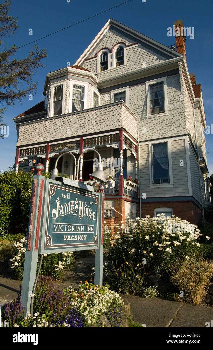 USA WASHINGTON, Port Townsend, Historic Victorian Houses, transformed into Bed and Breakfasts, JAMES HOUSE - Stock Image