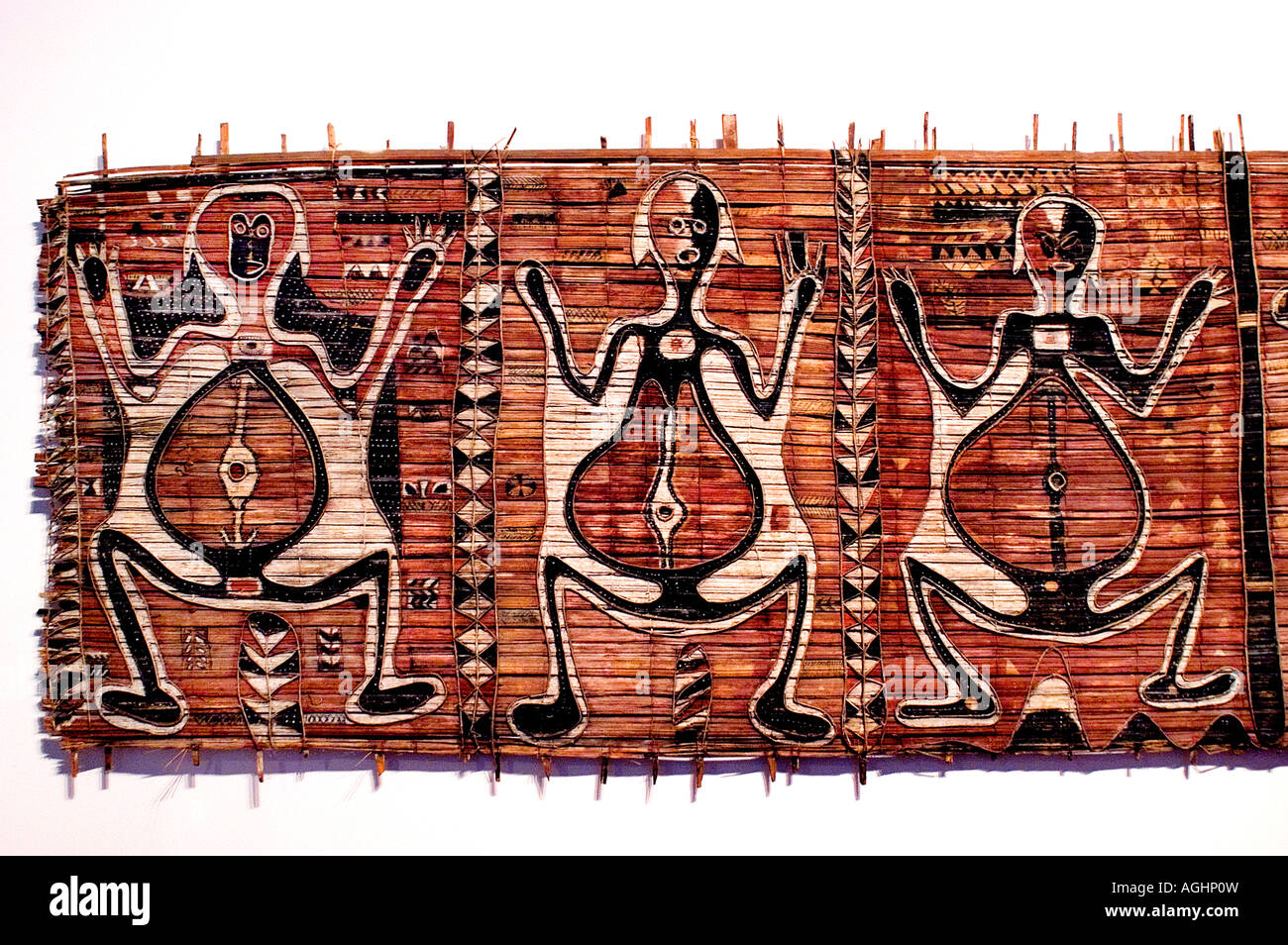 Set of three panels from a woman s initiotion house  Nord New Ireland Nalik Region - Stock Image