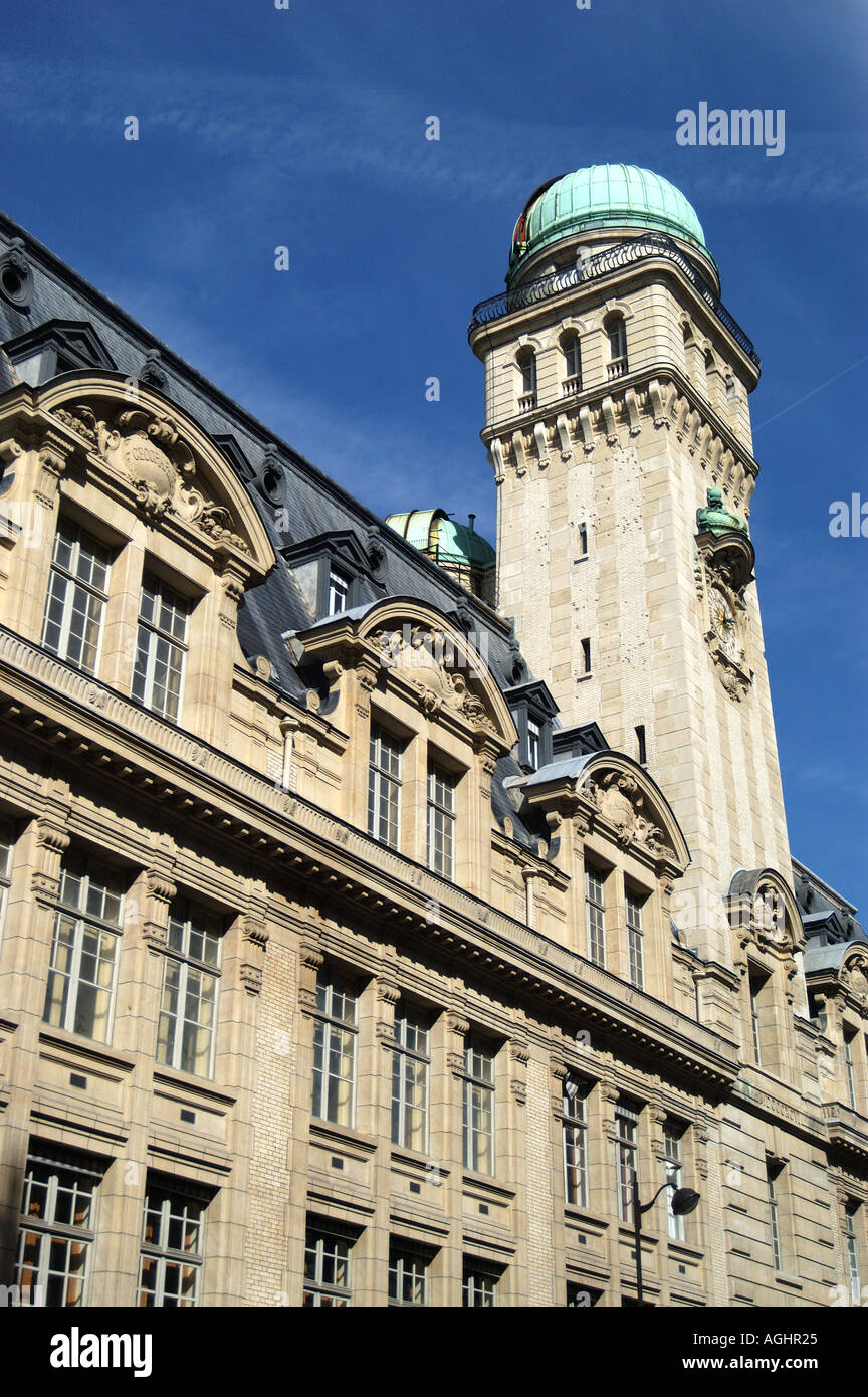 Sorbonne and the university observatory Paris France - Stock Image