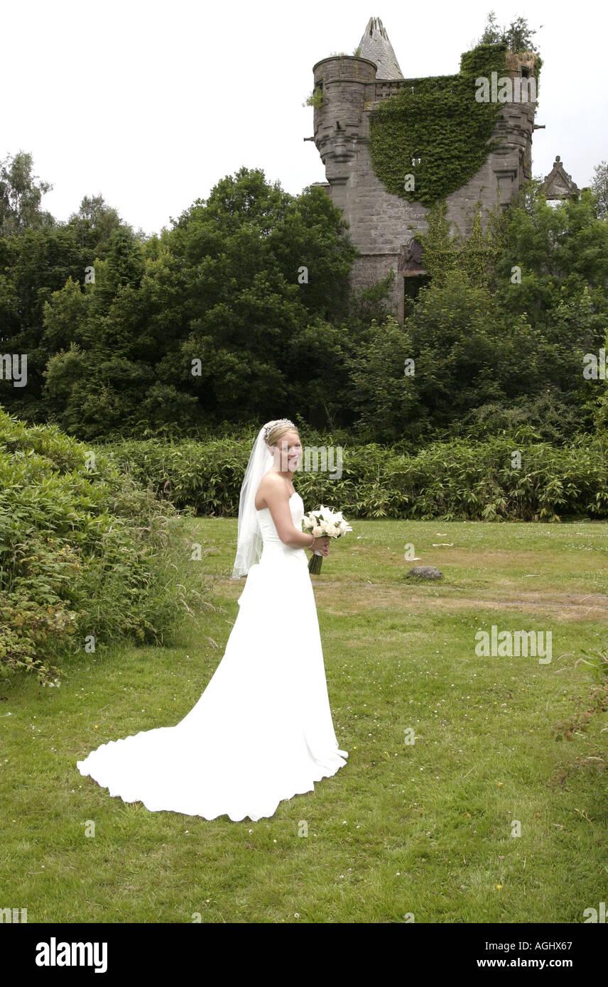 Scotland White Dress