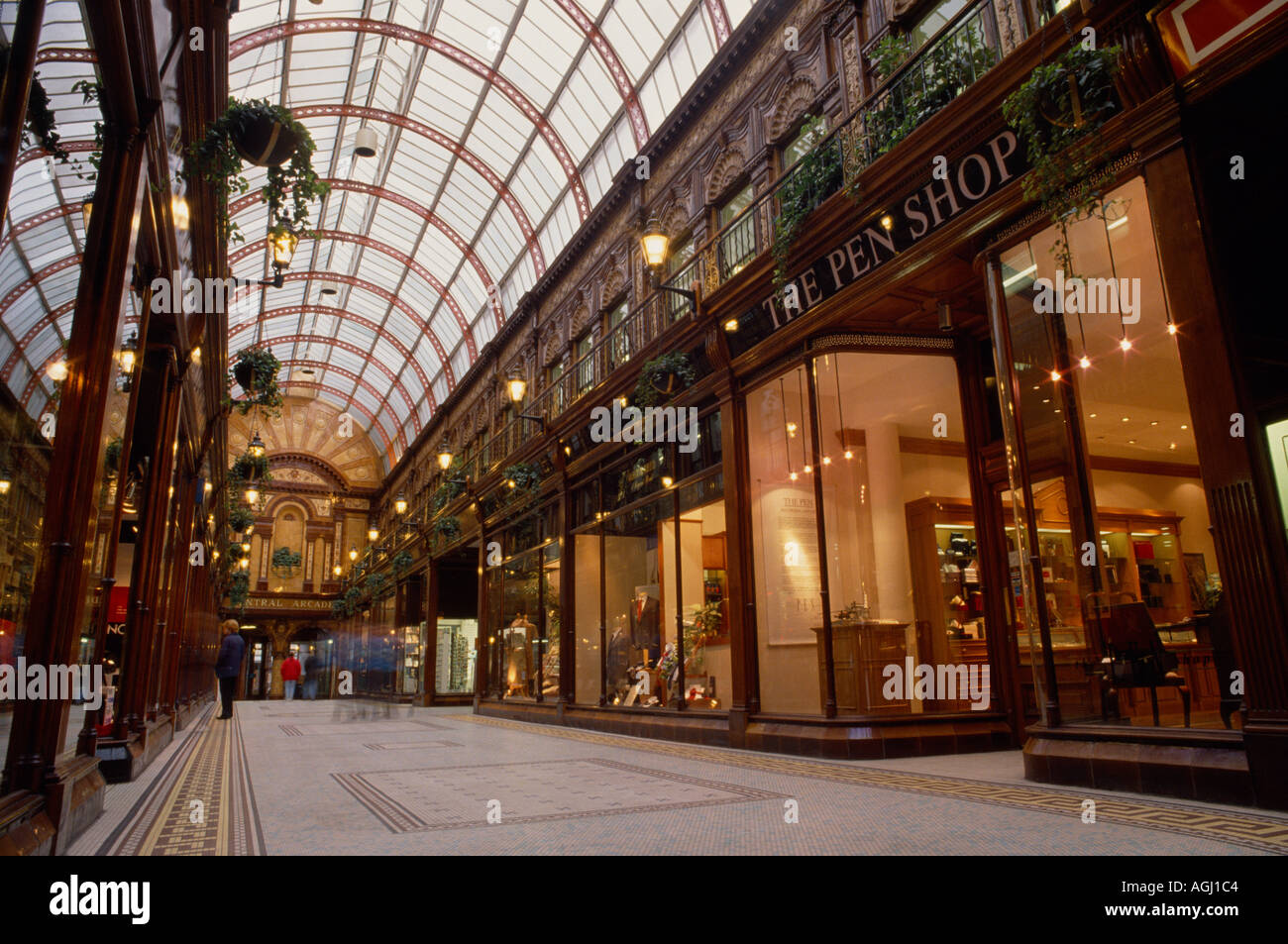 Central Arcade in Newcastle upon Tyne in England in Great Britain in the United Kingdom UK. Architecture Building Stock Photo