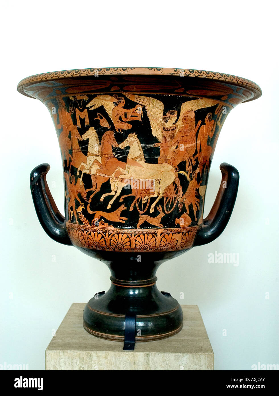 South Italian Vases with Mythological Depictions Souther Italy 4th cent BC - Stock Image