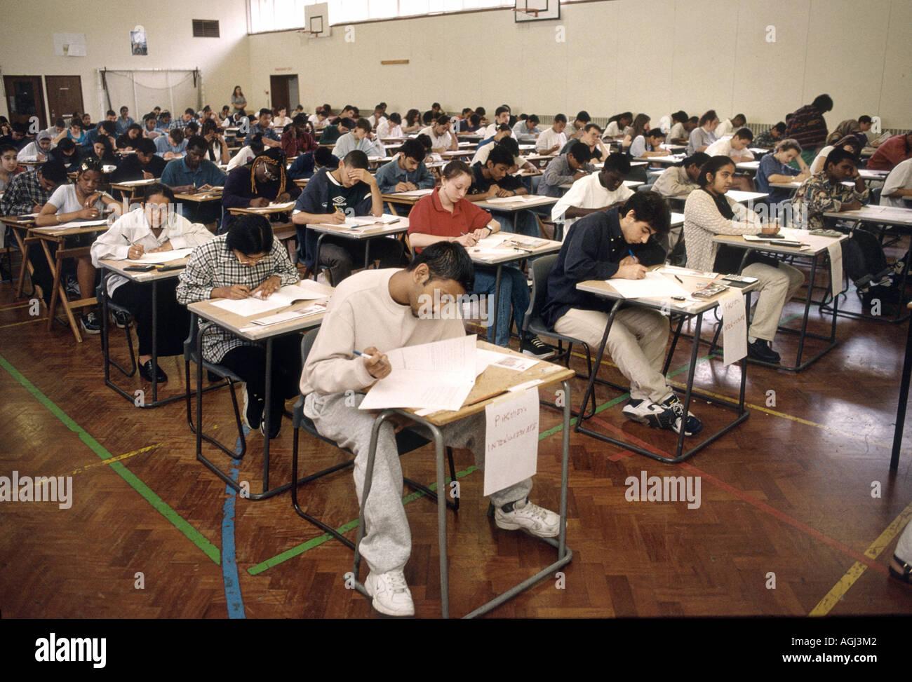 O level exams - Stock Image