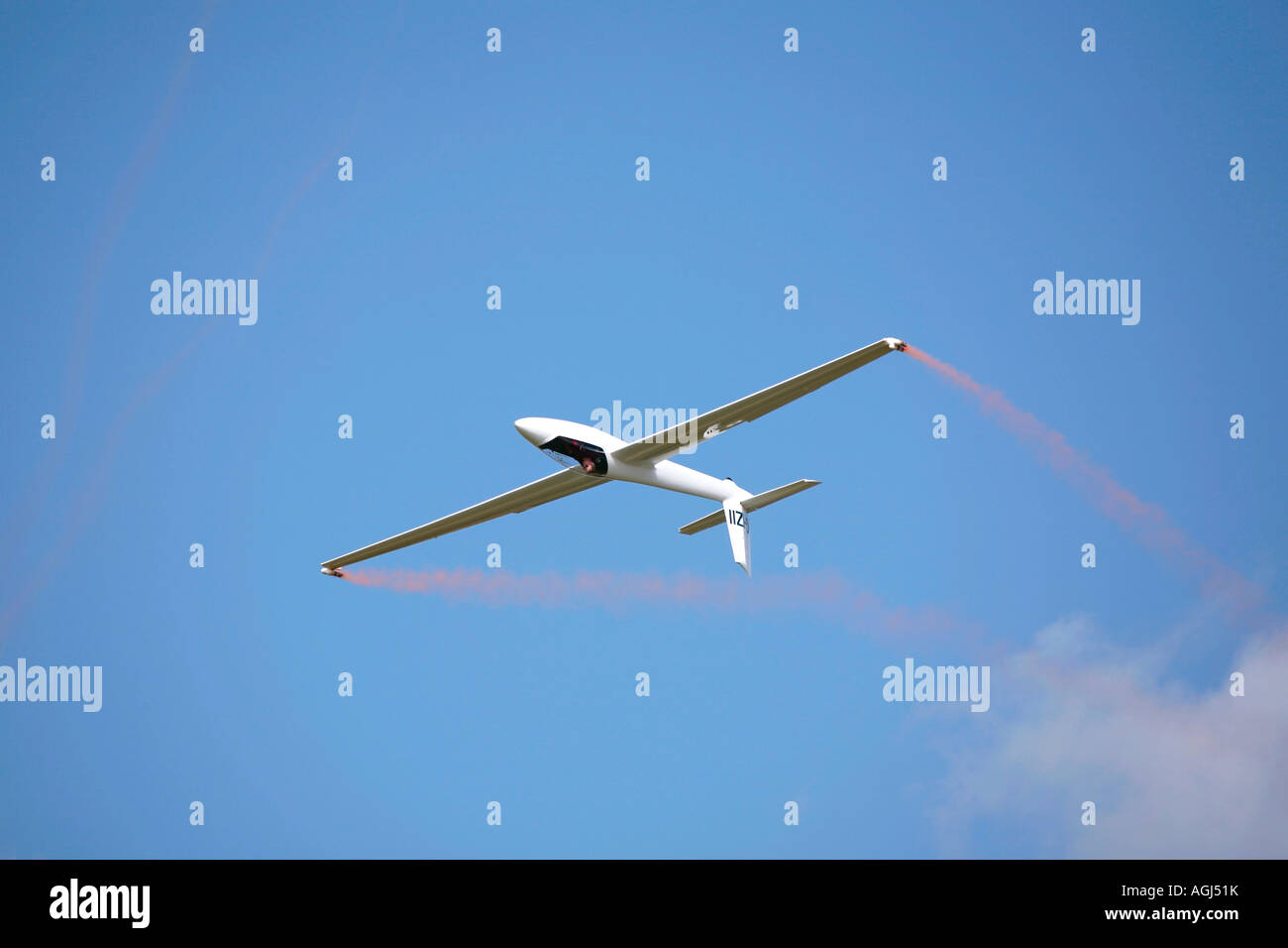 Guy Westgate piloting S-1 Swift glider at Shoreham Airshow - Stock Image