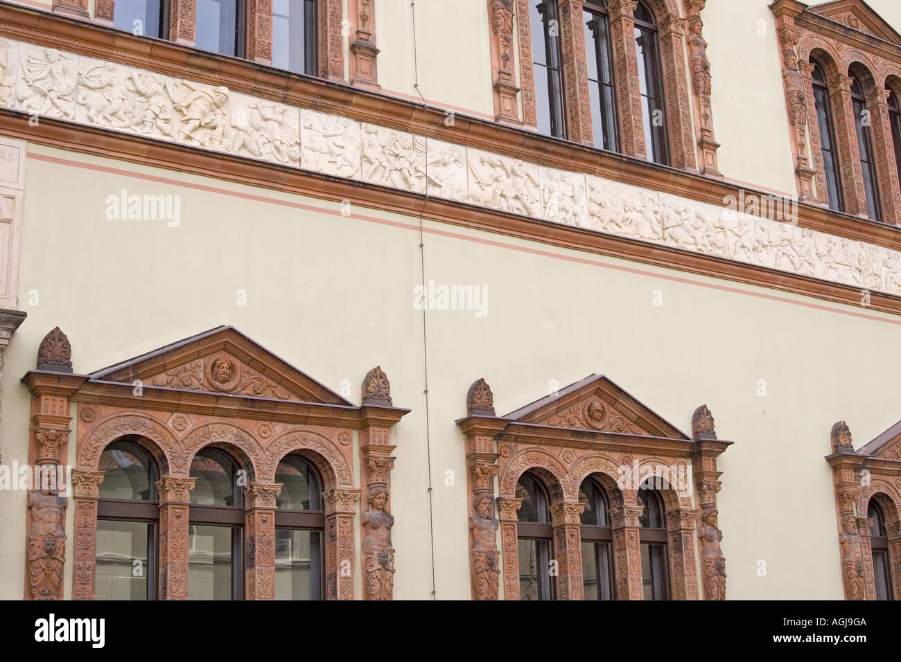 germany mecklenburg vorpommern facade of the district court in the old town of wismar - Stock Image