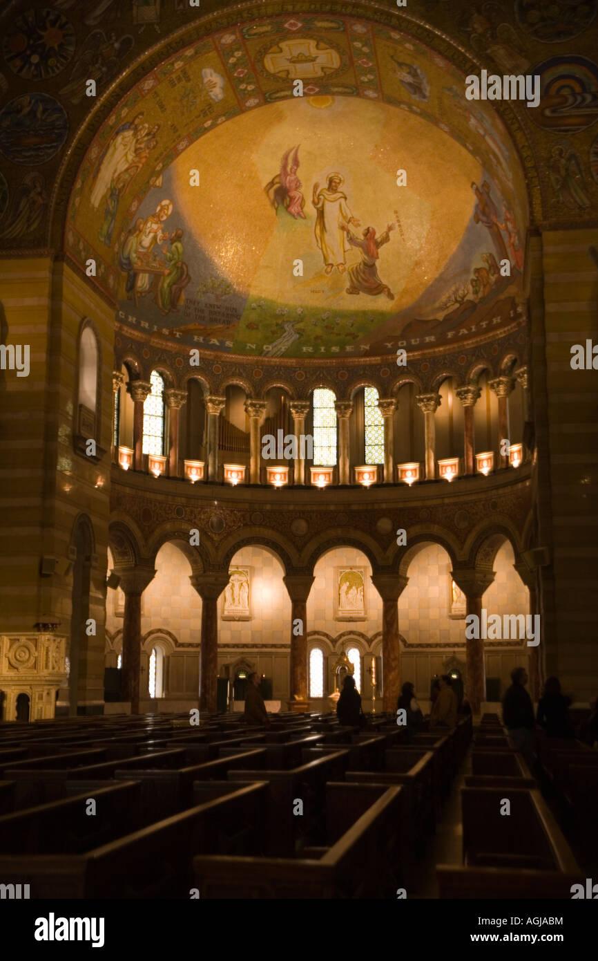 Interior of Cathedral Basilica of Saint Louis, Missouri - Stock Image
