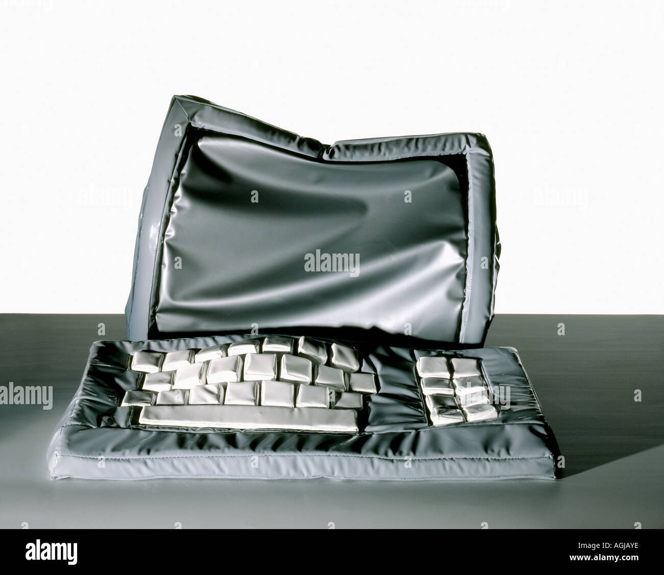 Computer Software illustrated by a 'soft sculpture' - Stock Image