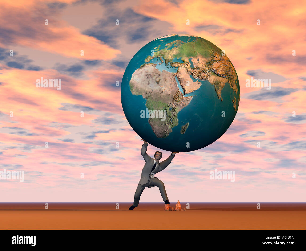 carrying the weight of the world stock photo 14222336 alamy