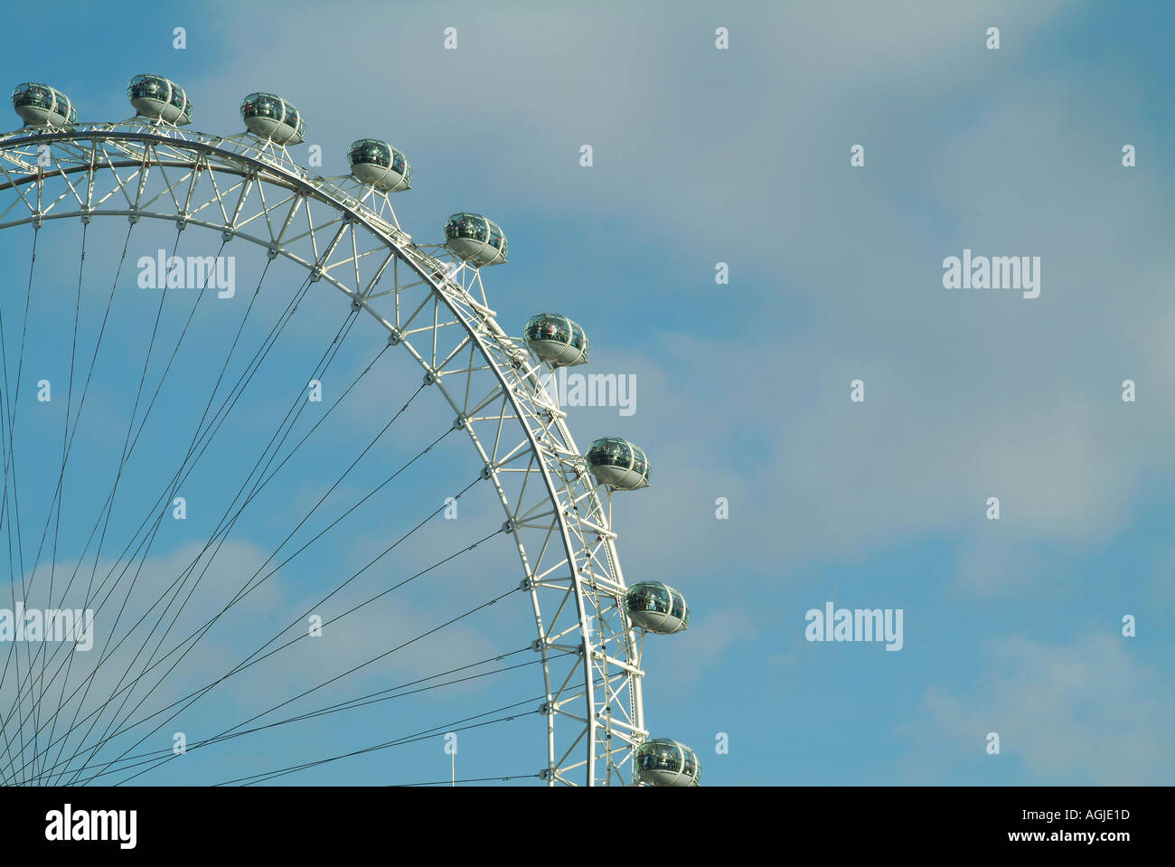 London Eye on the Southbank beside the river Thames London England UK Stock Photo