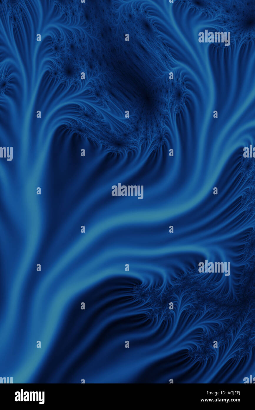 Fractal formation. Image created using layers of fractals. - Stock Image