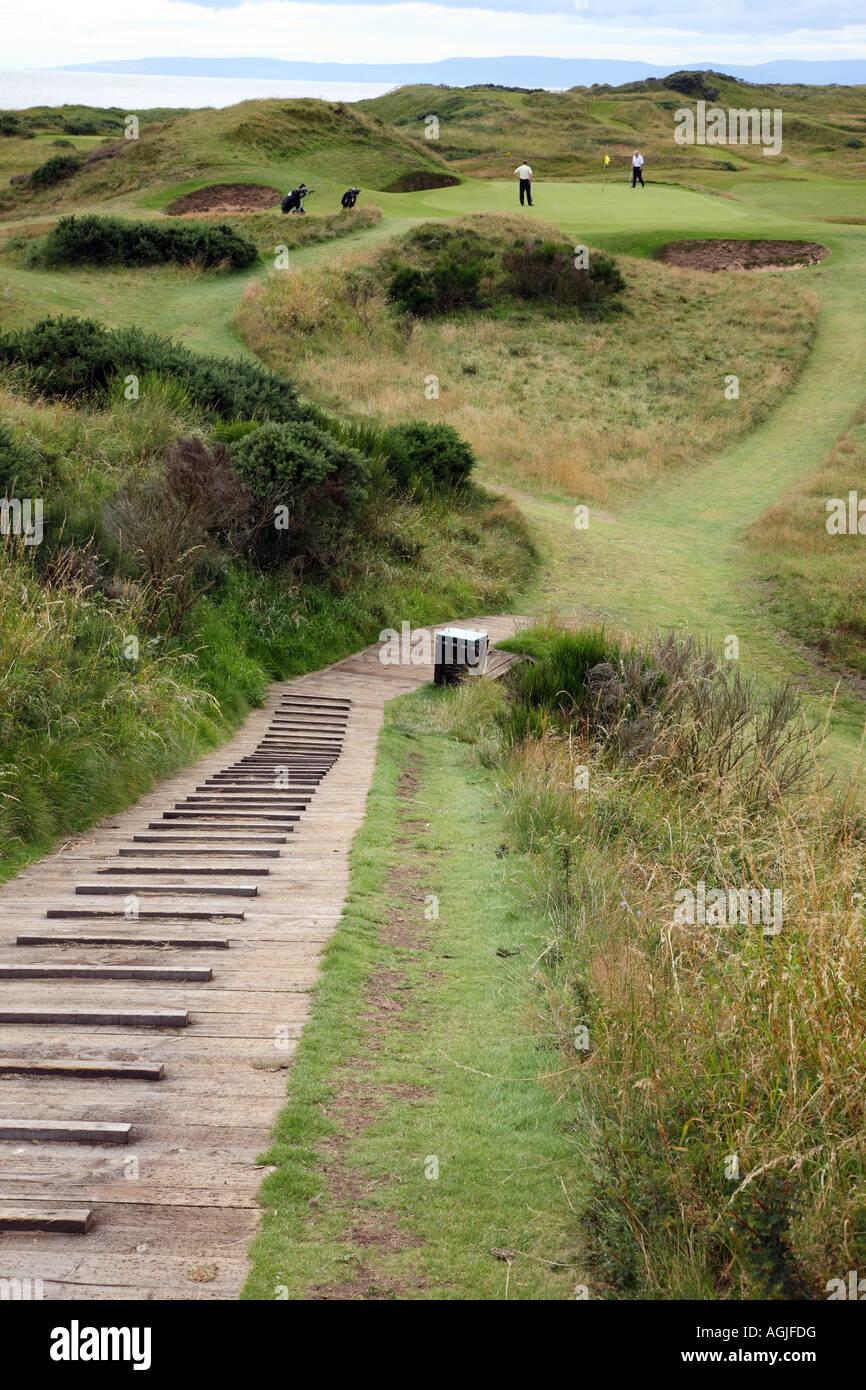 Royal Troon Golf Club Ayrshire Scotland Postage Stamp Par 3 Hole