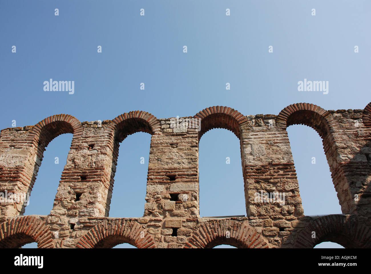 Nessebar Church ruins Bulgaria - Stock Image