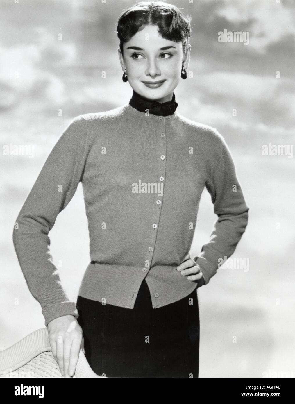 AUDREY HEPBURN  film actress about 1951 - Stock Image